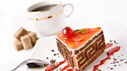 Coffee food cakes Wallpaper