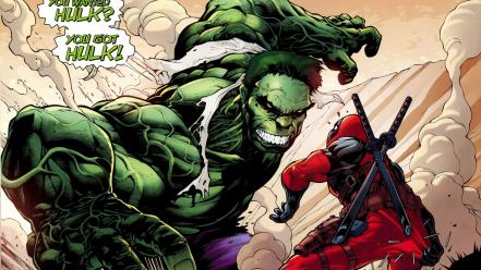 Deadpool (comic character) hulk wallpaper