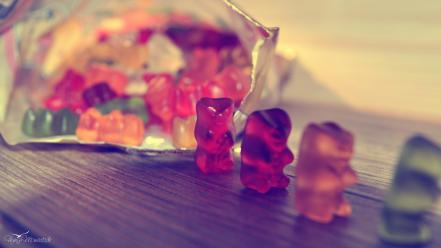Jelly sweets (candies) gummy bears haribo wallpaper