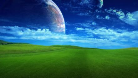 Landscapes nature fantasy art wallpaper