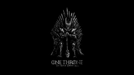 Lord of rings game thrones iron throne wallpaper
