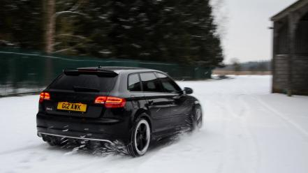 Nature snow cars audi rs3 sportback wallpaper