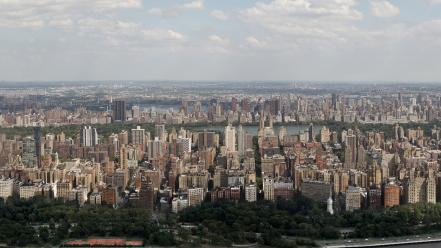 New york city manhattan skyscrapers skyline wallpaper