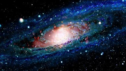 Outer space galaxies andromeda multiscreen wallpaper
