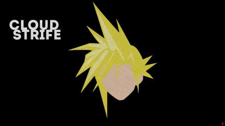 Final fantasy vii minimalistic cloud strife wallpaper