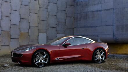 Red cars supercars fisker karma sports car Wallpaper