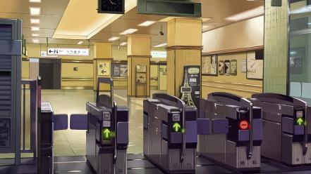 5 centimeters per second arrows interior design wallpaper