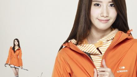 Im yoona lee min ho beige background wallpaper