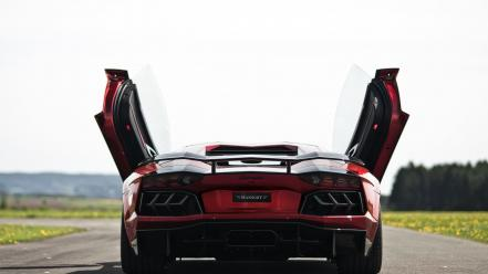Lamborghini aventador red cars mansory butterfly doors wallpaper