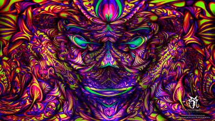 Psychedelic trippy artwork colors wallpaper