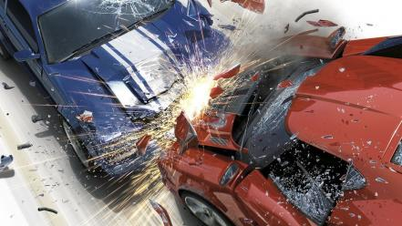 Video games cars burnout paradise crashed wallpaper