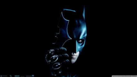 Batman the dark knight black background Wallpaper