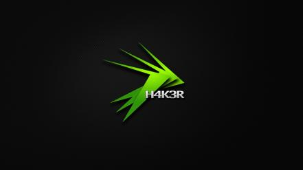 Hackers logos background Wallpaper