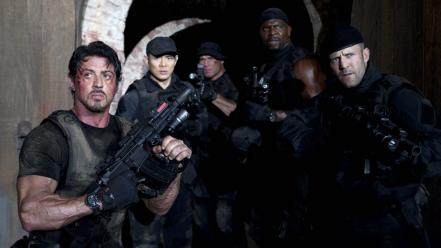 Jet li silvester stallone the expendables 2 wallpaper