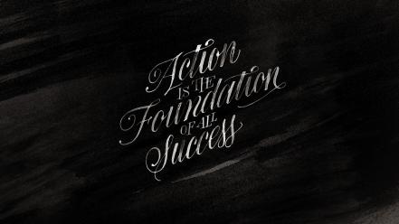 Minimalistic typography grayscale inspirational motivation calligraphy success wallpaper
