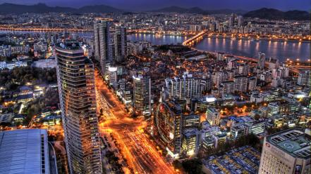 Night seoul south korea wallpaper