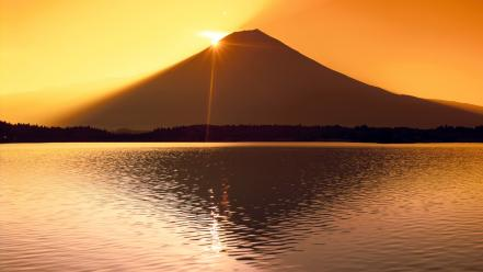 Sunset japan landscapes mount fuji wallpaper