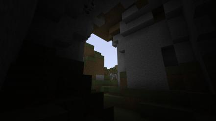 Video games caves minecraft Wallpaper