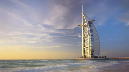 Dubai cities sea wallpaper