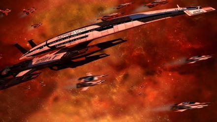 Effect spaceships science fiction game art sci-fi wallpaper