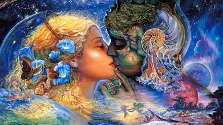 Fantasy paintings art dreams cosmic josephine wall mystical wallpaper