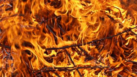 Flames explosions fire orange Wallpaper