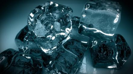 Ice cold frozen cubes Wallpaper