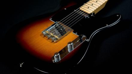 Instruments guitars electric black background telecaster musical wallpaper