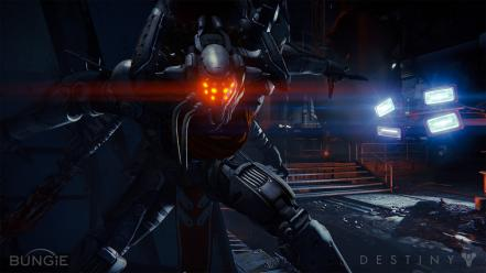 Video games lights robots futuristic bungie destiny Wallpaper