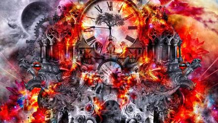 Abstract clocks time wallpaper