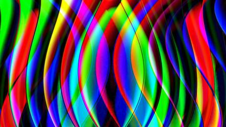 Abstract multicolor psychedelic wallpaper