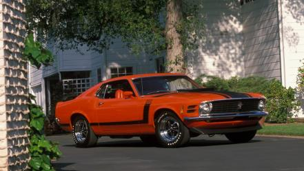 Cars vehicles ford mustang boss 302 1970 wallpaper
