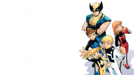 Comics x-men wolverine power pack wallpaper