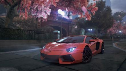 Criterion lamborghini aventador lp700-4 park spring season Wallpaper