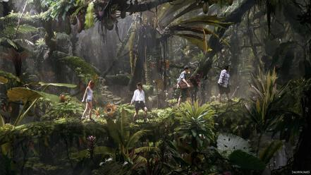 Jungle friends fantasy art jumanji expedition wallpaper