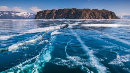 Landscapes nature islands oceans ice water artic sea wallpaper