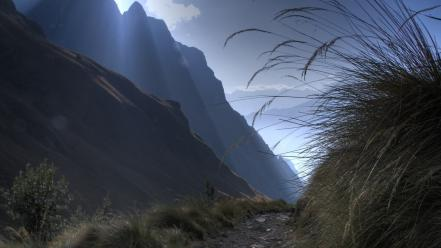 Mountains landscapes peru sacred valley Wallpaper