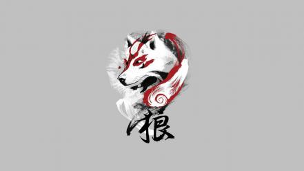 Okami chinese art wallpaper