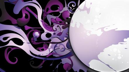 Pattern purple vector graphics black background splashes wallpaper