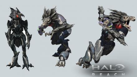 Video games halo reach creatures game wallpaper