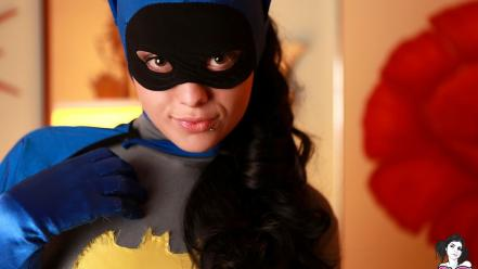 Brunettes women batman costume spandex radeo (suicidegirls) wallpaper