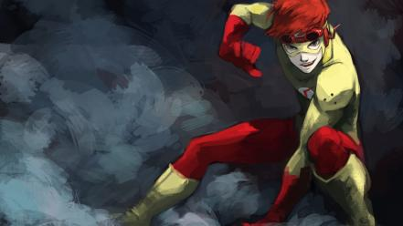 Dc comics superheroes the flash kid wally west Wallpaper