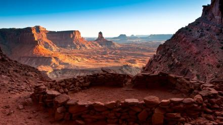 Landscapes false utah national park kiva united wallpaper