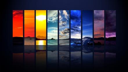 Spectrum Of The Sky Hdtv 1080p Hd wallpaper