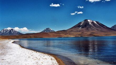 Andes atacama desert chile brown calm wallpaper