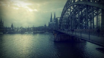 Cologne cathedral bridges Wallpaper