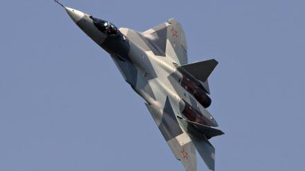 Pak fa sukhoi t-50 aircraft wallpaper