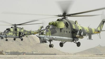 Soviet aircraft combat helicopters Wallpaper