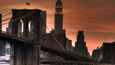 Brooklyn bridge new york city architecture bridges buildings Wallpaper