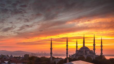 Hagia sophia istanbul turkey cities cityscapes Wallpaper